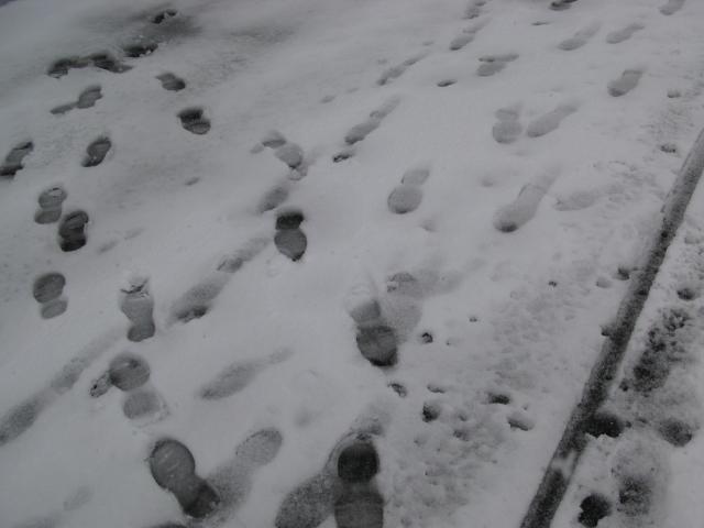 kenangan winter 2007..kesan salji yang telah dipijak^^